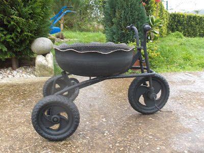 Araba Lastiği ile Bahçe Dekorasyonu 3