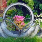 Araba Lastiği ile Bahçe Dekorasyonu 51
