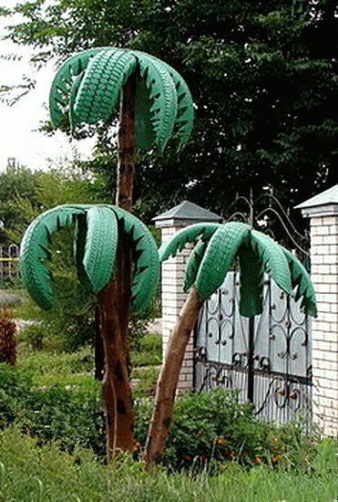Araba Lastiği ile Bahçe Dekorasyonu 57