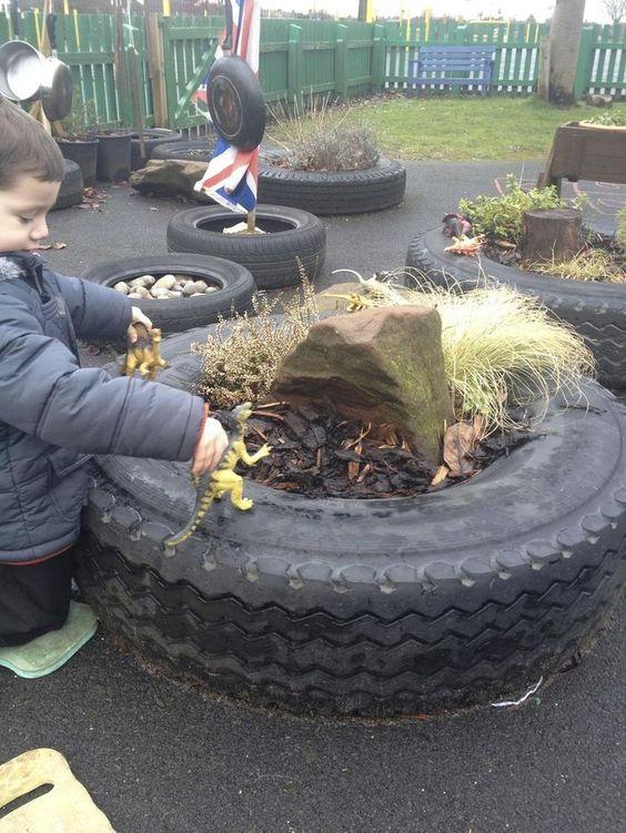 Araba Lastiği ile Bahçe Dekorasyonu 63