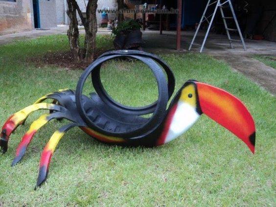 Araba Lastiği ile Bahçe Dekorasyonu 65