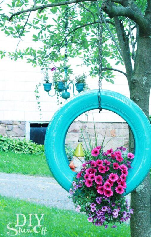 Araba Lastiği ile Bahçe Dekorasyonu 83
