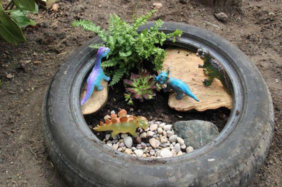 Araba Lastiği ile Bahçe Dekorasyonu 85