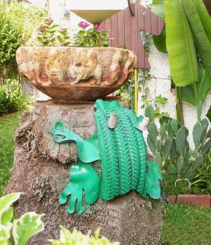 Araba Lastiği ile Bahçe Dekorasyonu 90