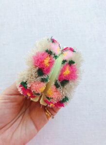 Çiçekli Ponpon Nasıl Yapılır? 19