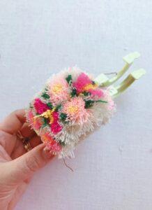 Çiçekli Ponpon Nasıl Yapılır? 22