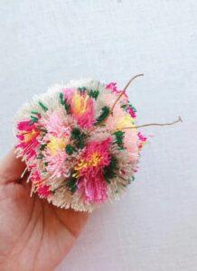 Çiçekli Ponpon Nasıl Yapılır? 23