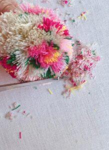 Çiçekli Ponpon Nasıl Yapılır? 24