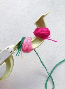 Çiçekli Ponpon Nasıl Yapılır? 7