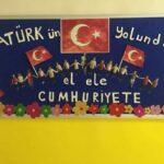 Cumhuriyet Bayramı 29 Ekim Pano Süsleme 30