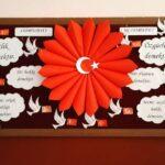 Cumhuriyet Bayramı 29 Ekim Pano Süsleme 32