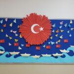 Cumhuriyet Bayramı 29 Ekim Pano Süsleme 7