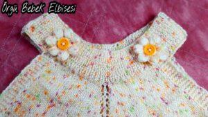 Örgü Bebek Elbisesi Yapımı 2