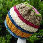 Örme Şapka Desenleri 12