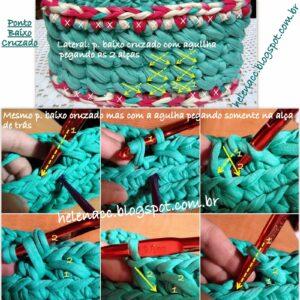 Penye Örgü Sepet Yapımı 3