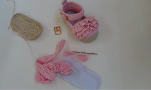 Tığla Bebek Patik Yapımı