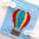 Uçan Balon Motifli Bebek Battaniyesi Yapılışı 1