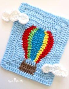 Uçan Balon Motifli Bebek Battaniyesi Yapılışı