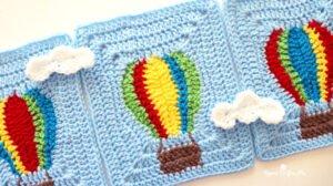 Uçan Balon Motifli Bebek Battaniyesi Yapılışı 7