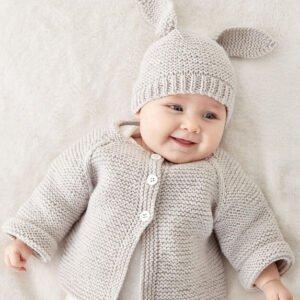 Düğmeli Bebek Hırkası Yapılışı 2