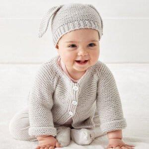 Düğmeli Bebek Hırkası Yapılışı 5