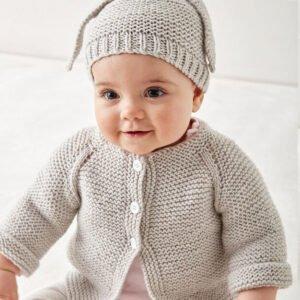 Düğmeli Bebek Hırkası Yapılışı 6