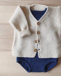 Pirinç Örgü Bebek Hırka Modelleri