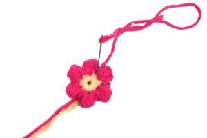 Çiçek Paspas Yapılışı 12