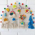 Çocuk Odası Makrome Gökkuşağı Duvar Süsleri 3