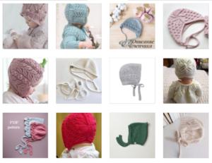 Bağcıklı Bebek Şapka Modelleri