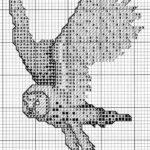 Baykuşlu Kanaviçe Modelleri 24