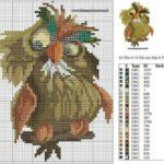 Baykuşlu Kanaviçe Modelleri 3