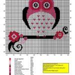 Baykuşlu Kanaviçe Modelleri 49