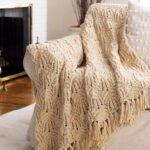Şiş Örgü Çiçek Battaniye Modeli
