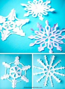 Kağıttan Kar Tanesi Yapımı Kolay 9