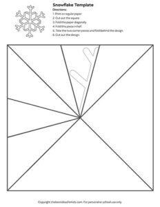 Kağıttan Kar Tanesi Yapımı Kolay 21