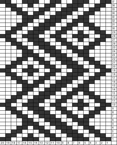 Penye İp Halı Modelleri ve Şemaları 24