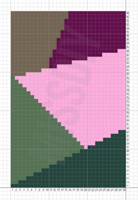 Penye İp Halı Modelleri ve Şemaları 30