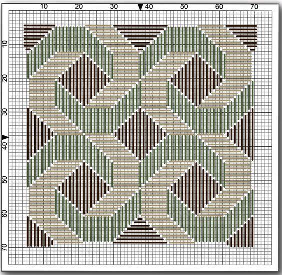 Penye İp Halı Modelleri ve Şemaları 57