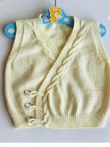 Yandan Düğmeli Bebek Yeleği Yapımı 4