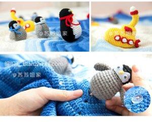 Amigurumi Kutup Temalı Battaniye Yapılışı 1