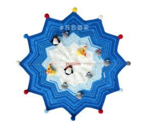 Amigurumi Kutup Temalı Battaniye Yapılışı 8