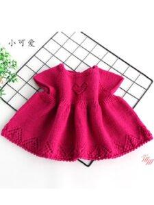 Örgü Bebek Elbise Yapımı 4