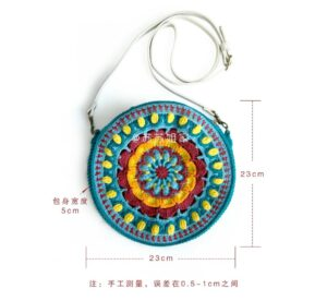 Örgü Mandala Çanta Yapımı 6