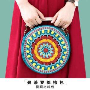Örgü Mandala Çanta Yapımı 8