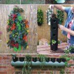 Plastik Borularla Bahçe Dekorasyon Fikirleri 15