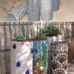 Plastik Borularla Bahçe Dekorasyon Fikirleri 6