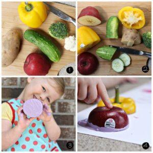 Sebze ve Meyvelerle Boyama Etkinlikleri
