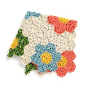 Çiçek Motifli Battaniye Yapımı 1