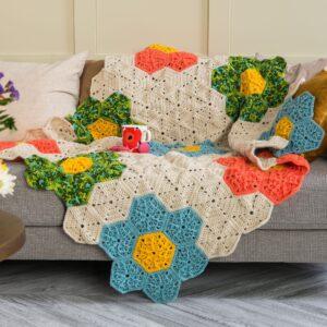 Çiçek Motifli Battaniye Yapımı